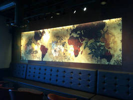 Arizona Starbucks Illuminates Wall Mural with MaxLite LED Lightbars