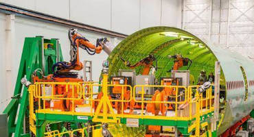 KUKA Systems Develops Robotic Riveting System for Boeing 777 Wide-body Fuselage Assembly