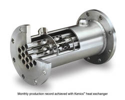 Kenics(TM) Heat Exchanger Increased Production Capacity in Specialty Chemical Plant
