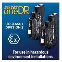 SeriesOne DR Solid State Relays are Approved for Use in Hazardous Environment Installations Typical in the Oil and Gas Industry