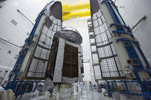 Buttoned Up: Lockheed Martin-Built MUOS-4 Secure Communications Satellite Encapsulated for August 31 Launch