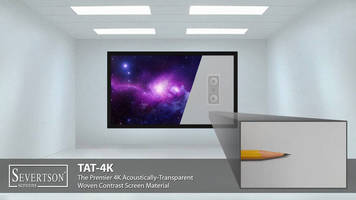 Severtson Screens Features TAT-4K and SAT-4K Acoustically-Transparent Projection Screens at 2016 InfoComm