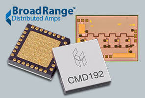 BroadRange Distributed Amplifiers(TM) Feature Industry Leading Dynamic Range over Ultra-Wide Bandwidths