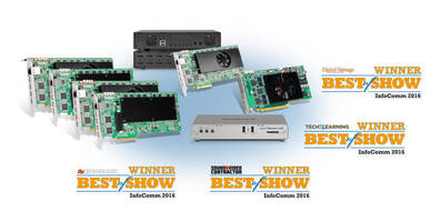 Matrox Wins Four Prestigious Industry Awards at InfoComm 2016