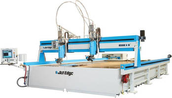 Jet Edge's EDGE X-5 5-Axis Waterjet Ideal for Metal Service Center Use Precision Waterjet System Cuts 3D Parts, Bevels to 50°