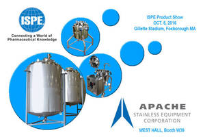 Apache is Exhibiting at the Boston ISPE Product Show