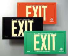 Exit Signs are charged by 5 fc fluorescent lighting.