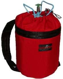 Backpack enables ergonomic transport of tanks.