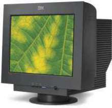 CRT Monitor features flat screen technology.