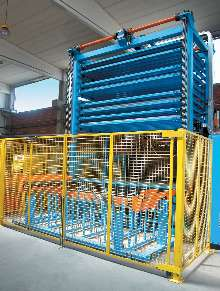 Material Handling System works with laser cutting systems.