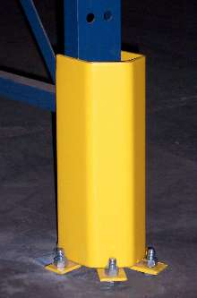 Column Protector guards against forklift collisions.