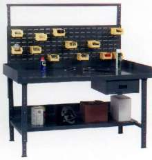 Work Benches provide flexible, durable work area.