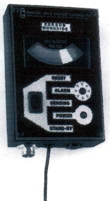 Toxic and Combustible Gas Monitor has alarm function.
