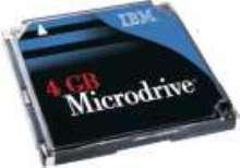 Microdrive has 4 GB capacity in 1 in. sq footprint.