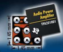 Audio Power Amplifier conserves board space.