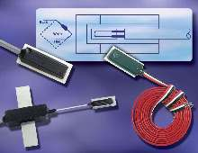 Strain Gages offer ±5,000 microinch/in. strain range.