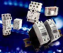 Industrial Relays include LED and flag indicators.