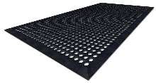 Rubber Mats feature anti-microbial/anti-fatigue properties.