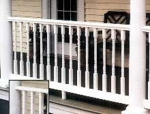 Railing System offers square or turned newel shafts.