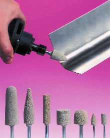 Abrasive Points blend and finish welded fabrications.