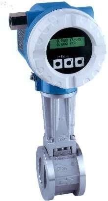 Vortex Flowmeters offer mass measurement of steam.
