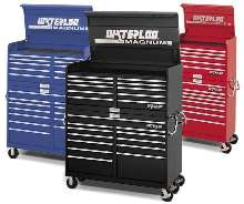 Tool Chests and Carts are offered in three colors.