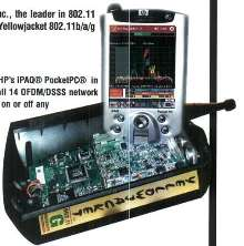Wireless Receiver System connects to iPAQ PocketPC.