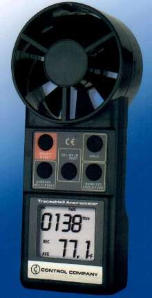 Anemometer/Thermometer is traceable to NIST standards.