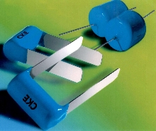 Radial Lead Capacitors have low inductance strap leads.