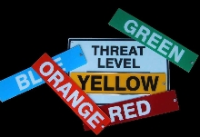Signs allow posting of terrorist threat levels.