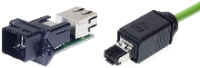 Push Pull RJ 45 Connector has IP 67 rating.