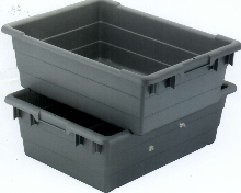 Tubs are compatible with 36 in. shelving and conveyors.