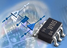 Monolithic IC incorporates VHF and UHF amplifiers.