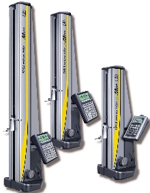 Height Gage combines manual and motorized operation.