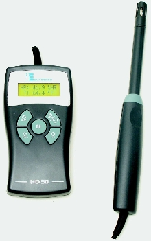 Thermohygrometer allows one-hand operation.