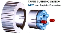 Taper Bushing replaces conventional bushings.