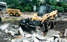 Skid Steer Attachment eliminates bucket change-outs.
