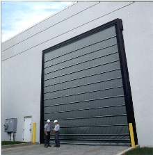 High Speed Doors operate at rates up to 42 in./sec.