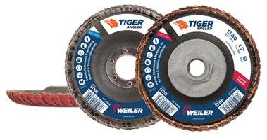 Tiger Angled Flap Discs come with self-sharpening zirconium flap disc.