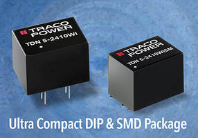 5W DC-DC Converters provides single and dual output voltages.