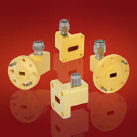 Waveguide to Coax Adapters allow product selection above 18 GHz range.