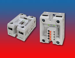 RK Series Solid State Relays feature single housing for two poles.