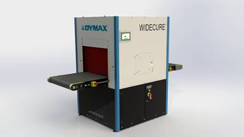 Widecure Conveyor features touch screen control panel.