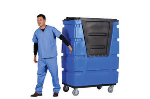 Laundry Cart Features Rugged, Lockable Cover to Protect Linens
