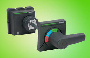 NOARK Electric's Handle Mechanisms mount on flange of an enclosure door.