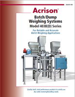 403B(D) Batch/Dump Weighing Systems are permanently calibrated.