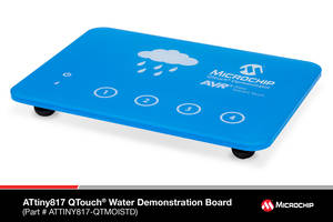 Peripheral Touch Controller with Superior Water Tolerance Now Available on Several Microchip MCUs