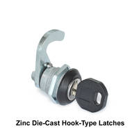 Zinc Die-Cast Hook-Type Latches are RoHS compliant.