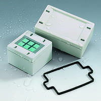 Snaptec Plastic Enclosures are IP 65 rated.