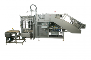 XpressPack Case Packer features pneumatically operated surge gates.